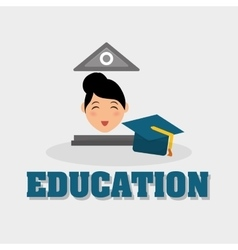 Education design University icon Colorfull and vector image