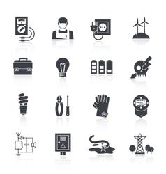 Electricity icon black vector