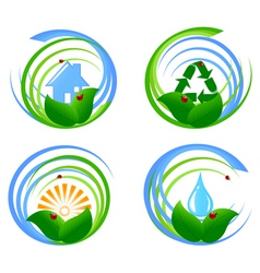 environmental design elements vector image