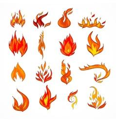 Fire icon sketch vector