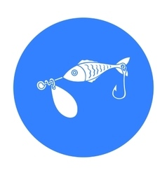 Fishing bait icon in black style isolated on white vector image vector image