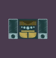 Flat shading style icon music center vector