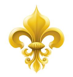 Golden fleur-de-lis vector