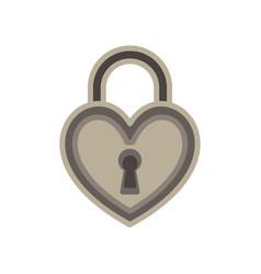 heart lock love padlock key keyhole icon symbol vector image vector image