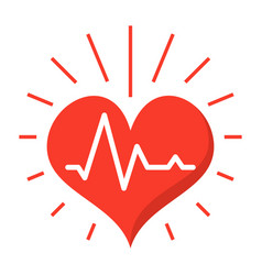 Heartbeat icon vector