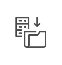 hosting line icon vector image