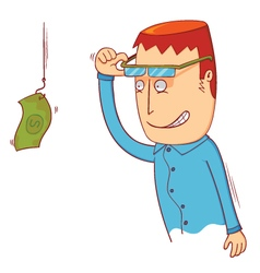 I see hanging money vector image
