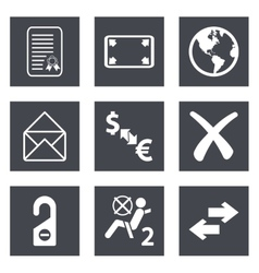 Icons for Web Design set 32 vector image vector image