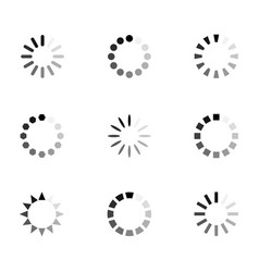 loading icon set vector image