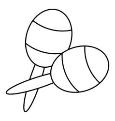 Maracas icon outline style vector
