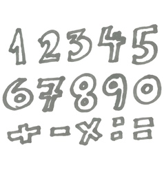 marker numbers vector image vector image