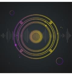 Music Background Colorful Outline Loudspeaker vector image vector image