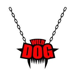 Necklace wild dog emblem for gangs of hooligans vector