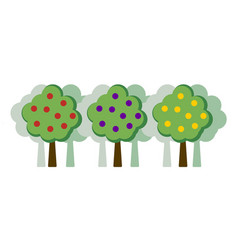Orchard concept flat vector