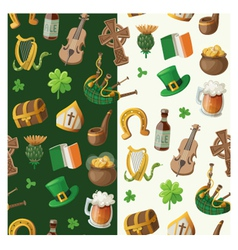 Pattern for saint patrick day vector image vector image