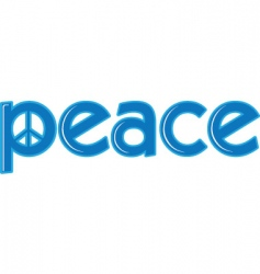 peace word vector image vector image