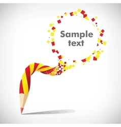 Pencil with inscription Sample text vector image vector image