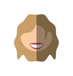 People face commoner woman icon image vector