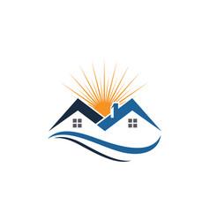 real estate property and construction logo desig vector image