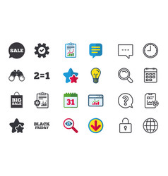Sale speech bubble icons black friday symbol vector