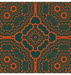 Seamles tribal Tibet like art pattern Red vector image