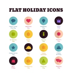 Set of flat icons for main national holidays vector