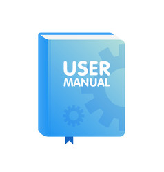 User manual book download icon flat vector