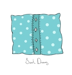 Pillow with buttons Cushion vector image
