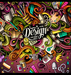 Cartoon cute doodles design frame vector