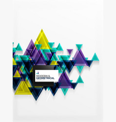 Paper art style triangle pattern texture abstract vector