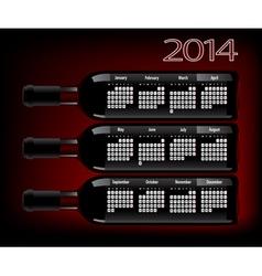 wine 2014 vector image