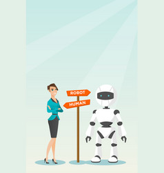 Choice between artificial intelligence and human vector