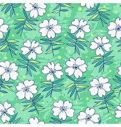 Beautiful flowers seamless pattern vector image