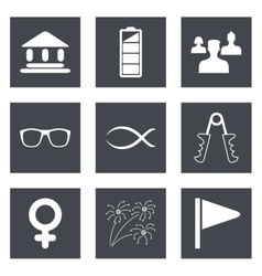 Icons for web design set 33 vector