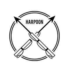 Harpoon design vector