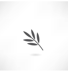 Leaf tree icon vector
