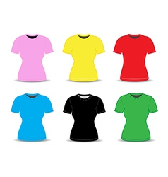 Blank t shirt template vector