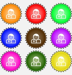Doctor icon sign a set of nine different colored vector