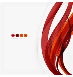Red and orange color lines composition vector