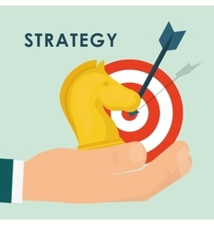 Business strategies and solutions vector