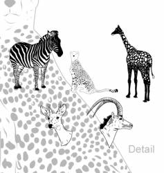 Savanna animals vector