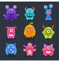 Monsters lovely vector