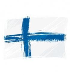 Grunge finland flag vector