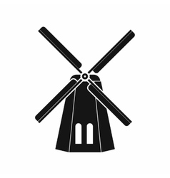 Windmill icon in simple style vector image