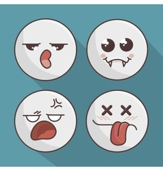 Set of emoticons isolated icon design vector