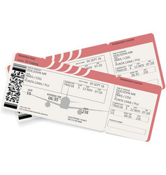 airplane boarding pass vector image vector image
