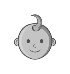 Babys face icon black monochrome style vector image