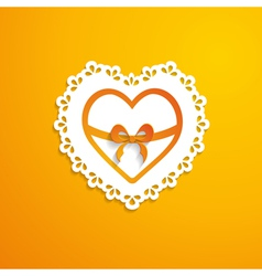 background with a heart vector image vector image