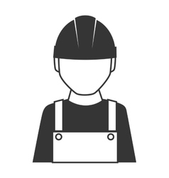 Builder construction worker icon graphic vector