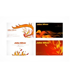 Business card fire vector image vector image